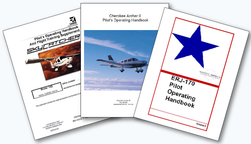 Figure 1-16. Pilot Operating Handbooks from manufacturers.