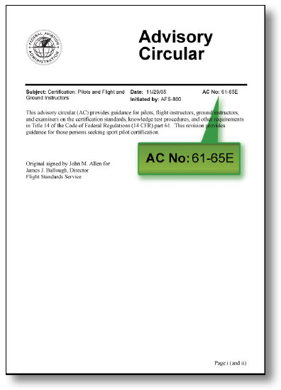 Figure 1-17. Example of an Advisory Circular in its fifth revision.