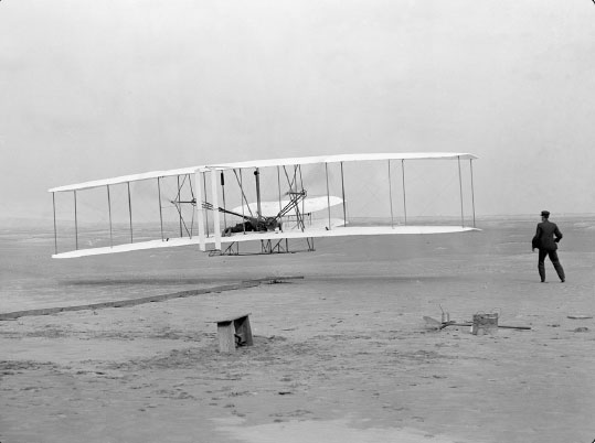 Figure 1-3. First flight by the Wright brothers.