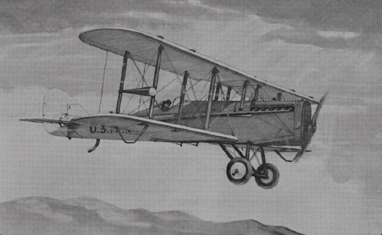 Figure 1-5. The de Haviland DH-4 on the New York to San Francisco inaugural route in 1921.