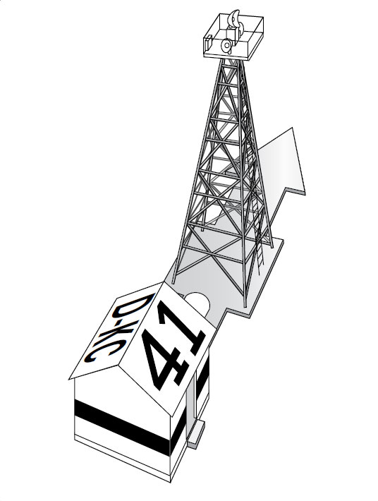 Figure 1-7. A standard airway beacon tower