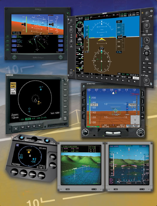 Figure 2-21. Electronic flight instrumentation comes in many systems and provides a myriad of information to the pilot.