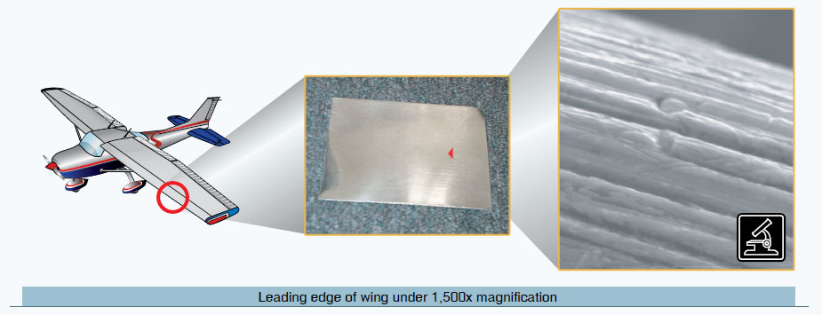 Figure 4-1. Microscopic surface of a wing.