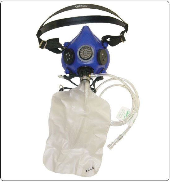 Figure 7-45. Continuous flow mask and rebreather bag.