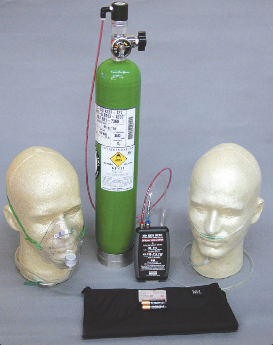 Figure 7-46. EDS-011 portable pulse-demand oxygen system.