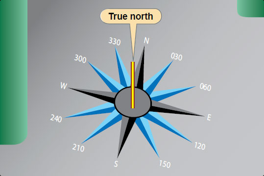 Figure 8-34. Utilization of a compass rose aids compensation for deviation errors.