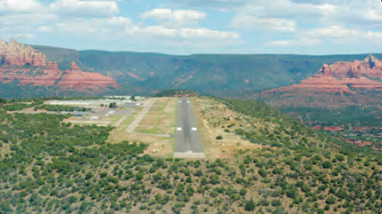 Figure 1-14. Sedona Airport is one of the many airports that operate without a control tower.