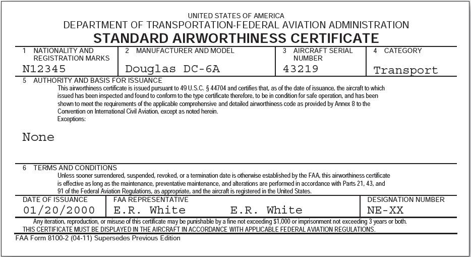 how to get an airworthiness certificate