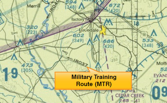 Figure 15-7. Military training route (MTR) chart symbols.
