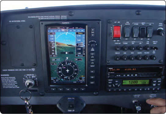 Figure 16-15. EFIS indication of level cruise flight.