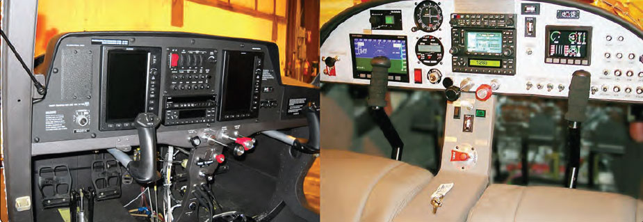 Figure 16-5. An electronic flight instrumentation system provides attitude, airspeed, altimeter, vertical speed, direction, moving map, navigation, terrain awareness, traffic, weather, and engine data all on one or two liquid crystal displays.