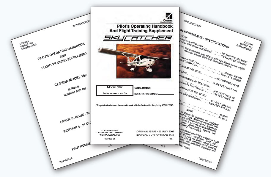 Figure 16-9. Pilot's Operating Handbook for a LSA.
