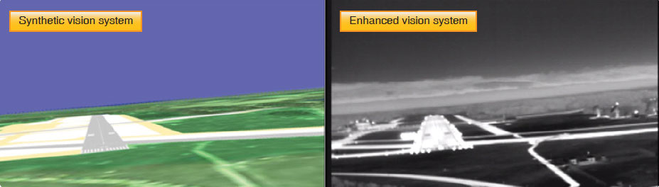 Figure 17-23. Synthetic and enhanced vision systems.