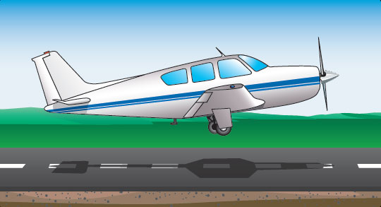 Figure 17-8. Landing with nosewheel retracted.