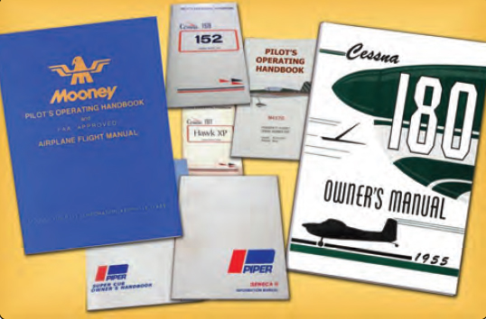 Figure 2-3. Airplane Flight Manuals (AFM) and the Pilot Operating Handbook (POH) for each individual aircraft explain the required items for inspection.