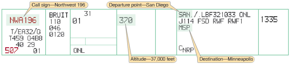 Figure 2-6. Flight strip.