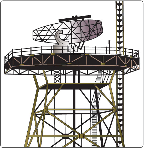 Figure 2-7. Combined radar and beacon antenna.