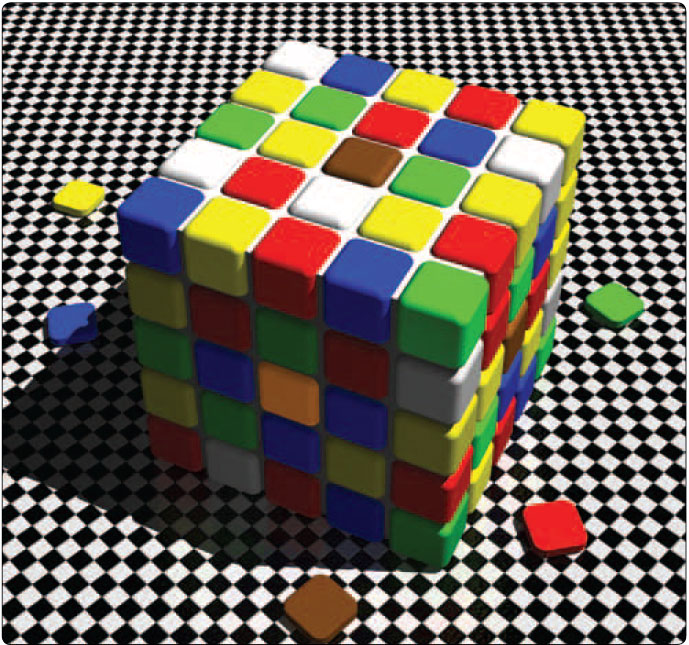 Figure 3-1. Rubik's cube graphic depicting the visual processing of information.