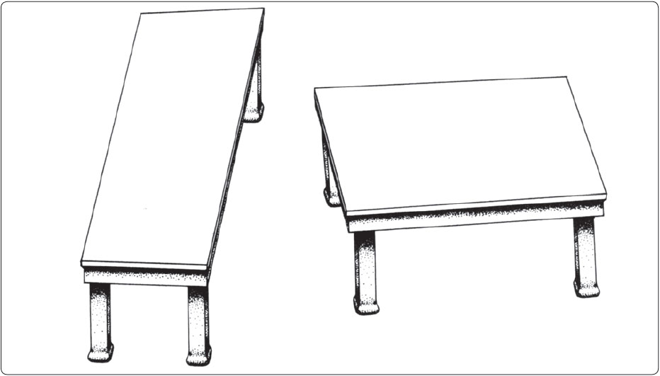 Figure 3-2. Shepard's tables illustrating problems with perception as both tables are the same length.