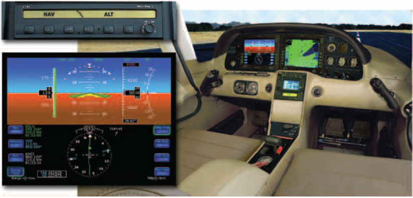 Figure 5-41. The S-TEC/Meggit Corporation Integrated Autopilot installed in the Cirrus.