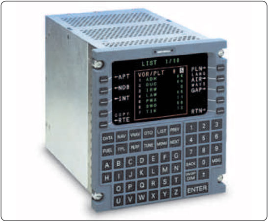 Figure 5-44. A Control Display Unit (CDU) used to control the flight management system (FMS).