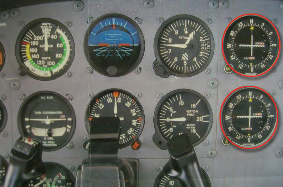 Figure 2-52. Instrument panel with dual VORs.