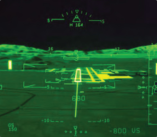 Figure 5-15. An aircraft on an approach equipped with a SVS.