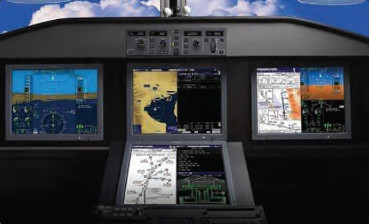 Figure 5-16. Enhanced and synthetic vision displayed on primary flight displays.