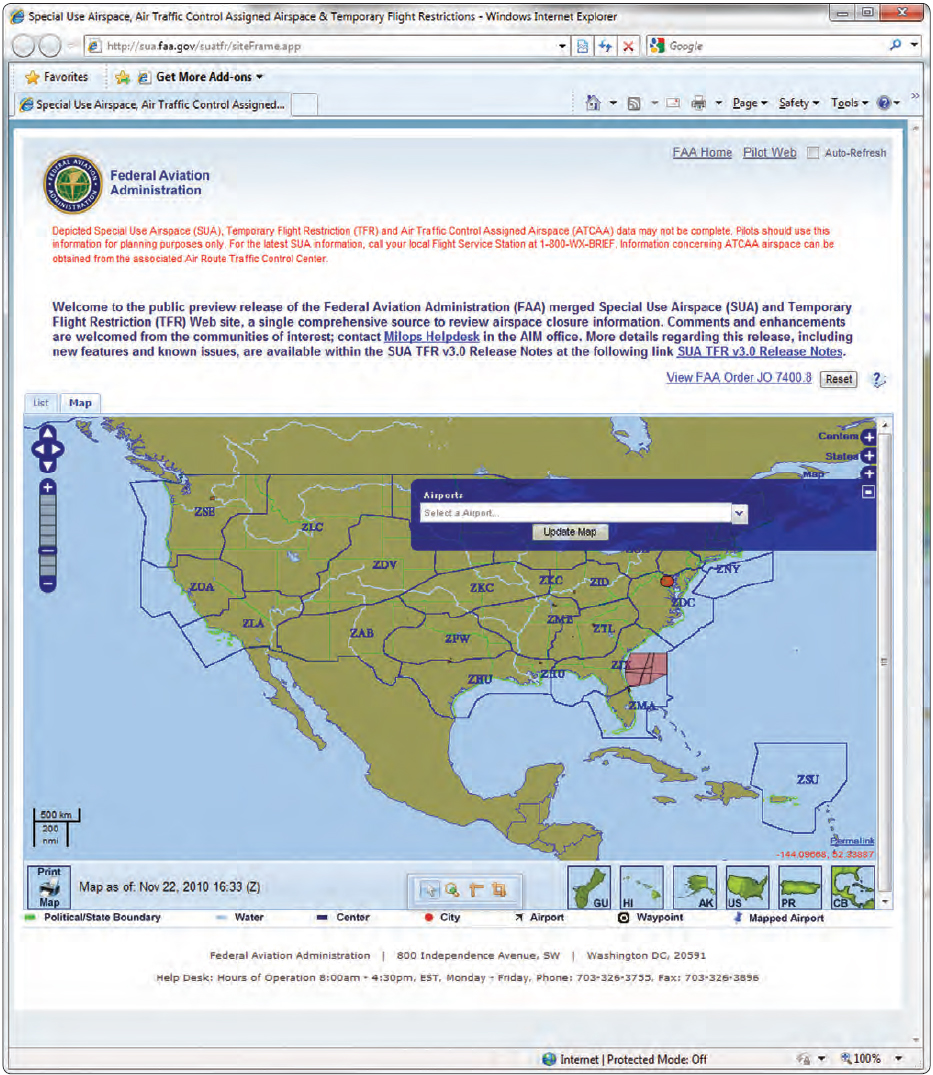 Figure 5-38. Airport information available to pilots through the FAA website.