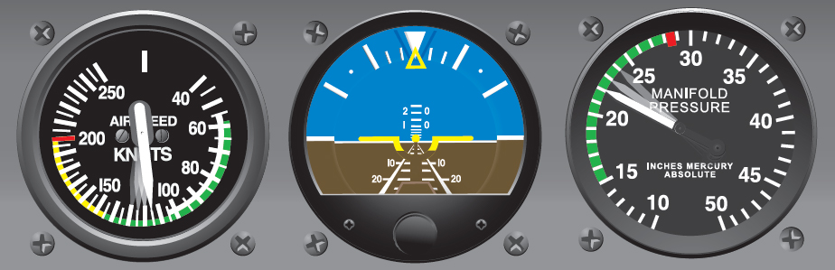 Figure 6-14. Pitch control and power adjustment required to bring aircraft to level flight.