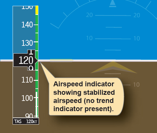 Figure 6-36. Airspeed indicators with no trend present.