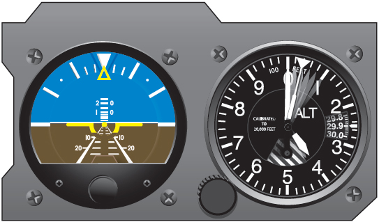 Figure 6-7. Pitch correction using the altimeter.
