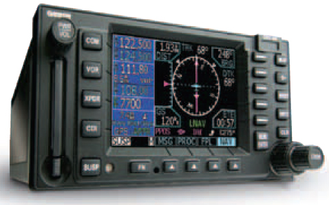 Figure 9-26. A typical example (GNS 480) of a stand-alone GPS receiver and display.