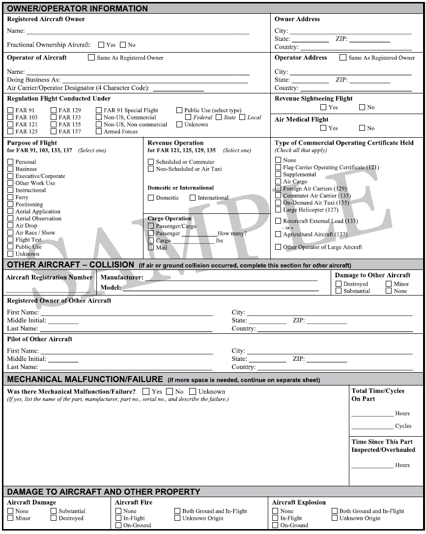 Figure 1-4. NTSB Form 6120.1 (page 2 of 9).