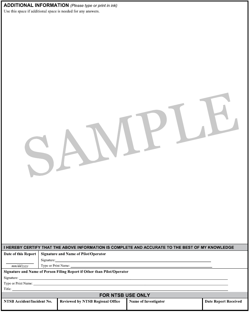 Figure 1-4. NTSB Form 6120.1 (page 9 of 9).