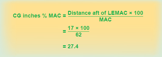 Figure 3-18. Formula for determining the CG expressed in percent MAC.