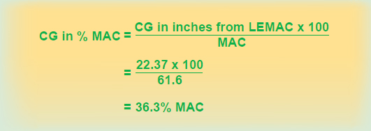 Figure 6-5. Finding CG in percent MAC.
