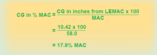 Figure 7-8. Formula for determining the CG in percent MAC.