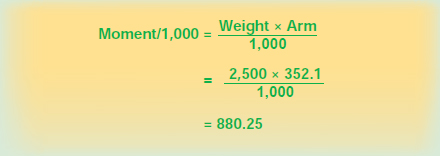 Figure 9-15. Determining the moment/1,000 of the removed weight.