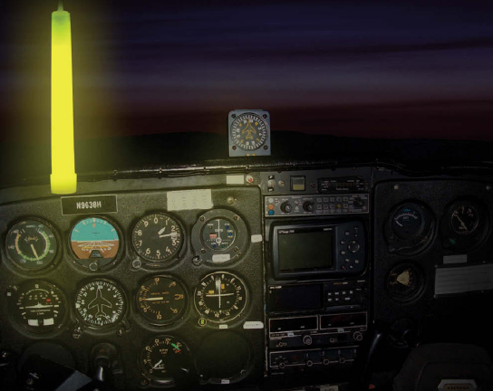 Figure 3-8. A chemical stick is useful to carry onboard the aircraft at night. It comes in various colors, intensities, and durations, and it provides ample illumination within the flight deck. This does not replace the regulatory requirement of carrying flashlights.