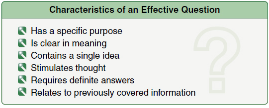 Figure 4-10. If the objectives of a lesson are clearly established in advance, instructors will find it much easier to ask appropriate questions that keep the discussion moving in the planned direction.