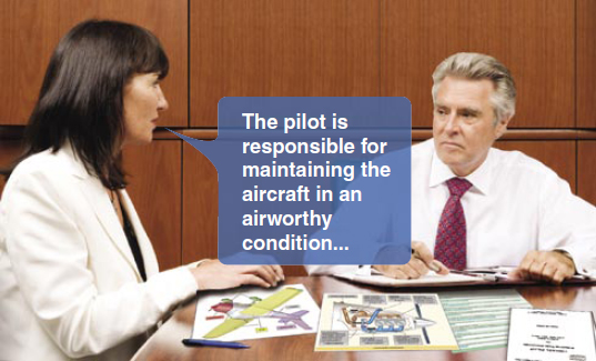 Figure 4-11. As the student grows in flight knowledge, he or she should be able to lead the postflight review while the instructor guides the discussion with targeted questions.