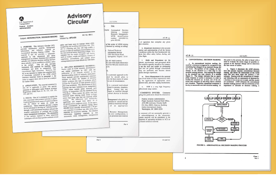 Figure 5-1. Advisory Circular (AC) 60-22, Aeronautical Decision Making, carries a wealth of information for the pilot to learn.