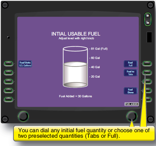 Figure 5-20. Making an initial fuel estimate.