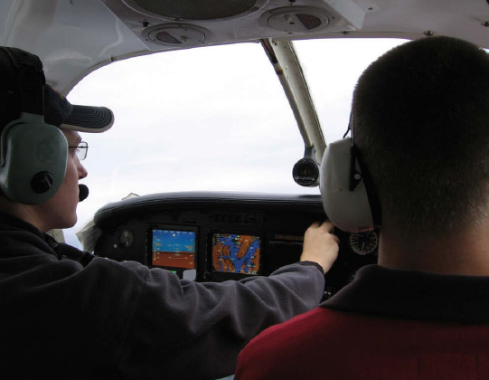 Figure 6-18. Passengers can be used effectively within the flight deck; simple things such as keeping an eye out for other aircraft is invaluable.