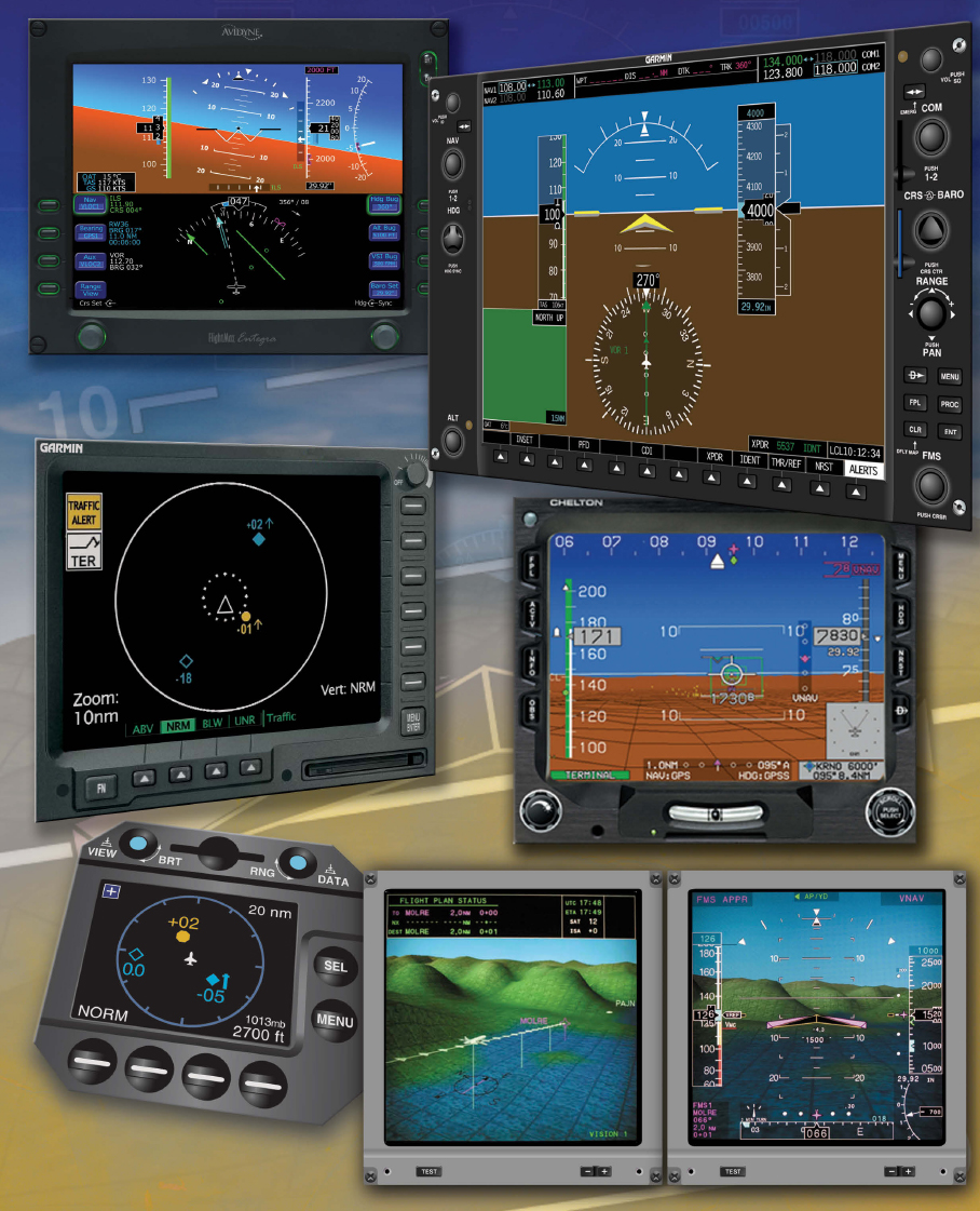 Figure 7-1. Electronic flight instrumentation comes in many systems and provides a myriad of information to the pilot.