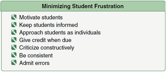 Figure 7-4. These are practical ways to minimize student frustration.