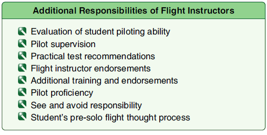 Figure 7-5. The flight instructor has many additional responsibilities.