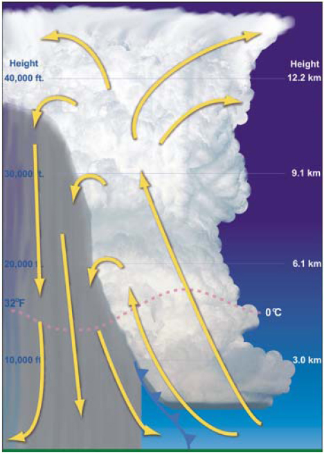 FIGURE 1. MATURE STAGE OF THUNDERSTORM