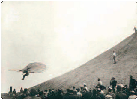 Figure 1-3. Otto Lilienthal in flight.